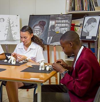 High School Academics Students Art Class