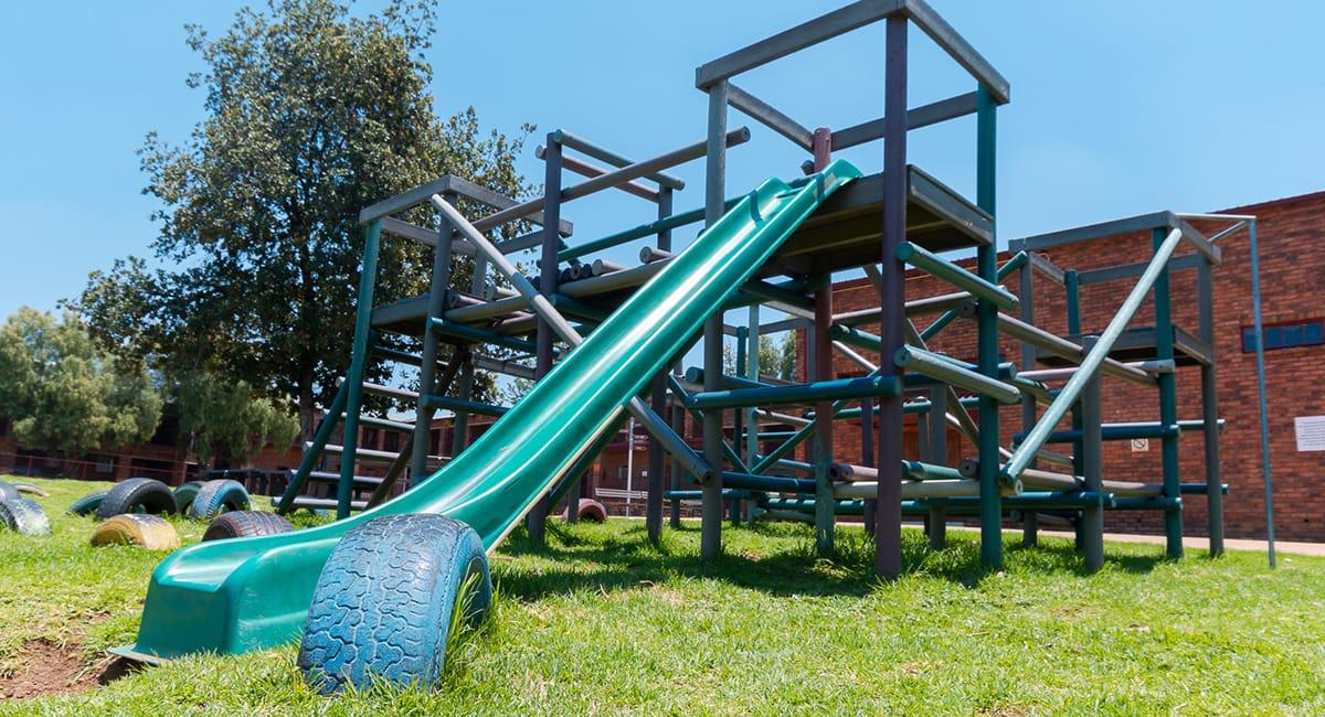 Jungle Gym and Slide
