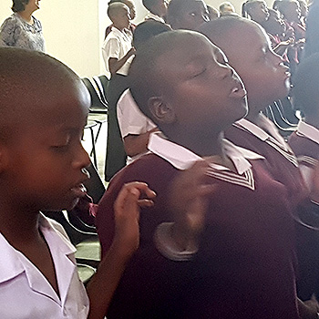 Welcome by the school pastor - praise and worship